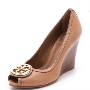 Tory Burch Brown leather selma wedges